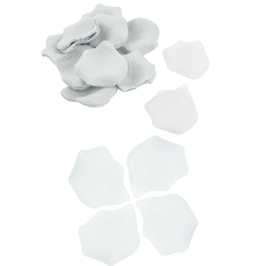 200 Pcs Wedding Festival House Accent Artificial Fabric Rose Petals White