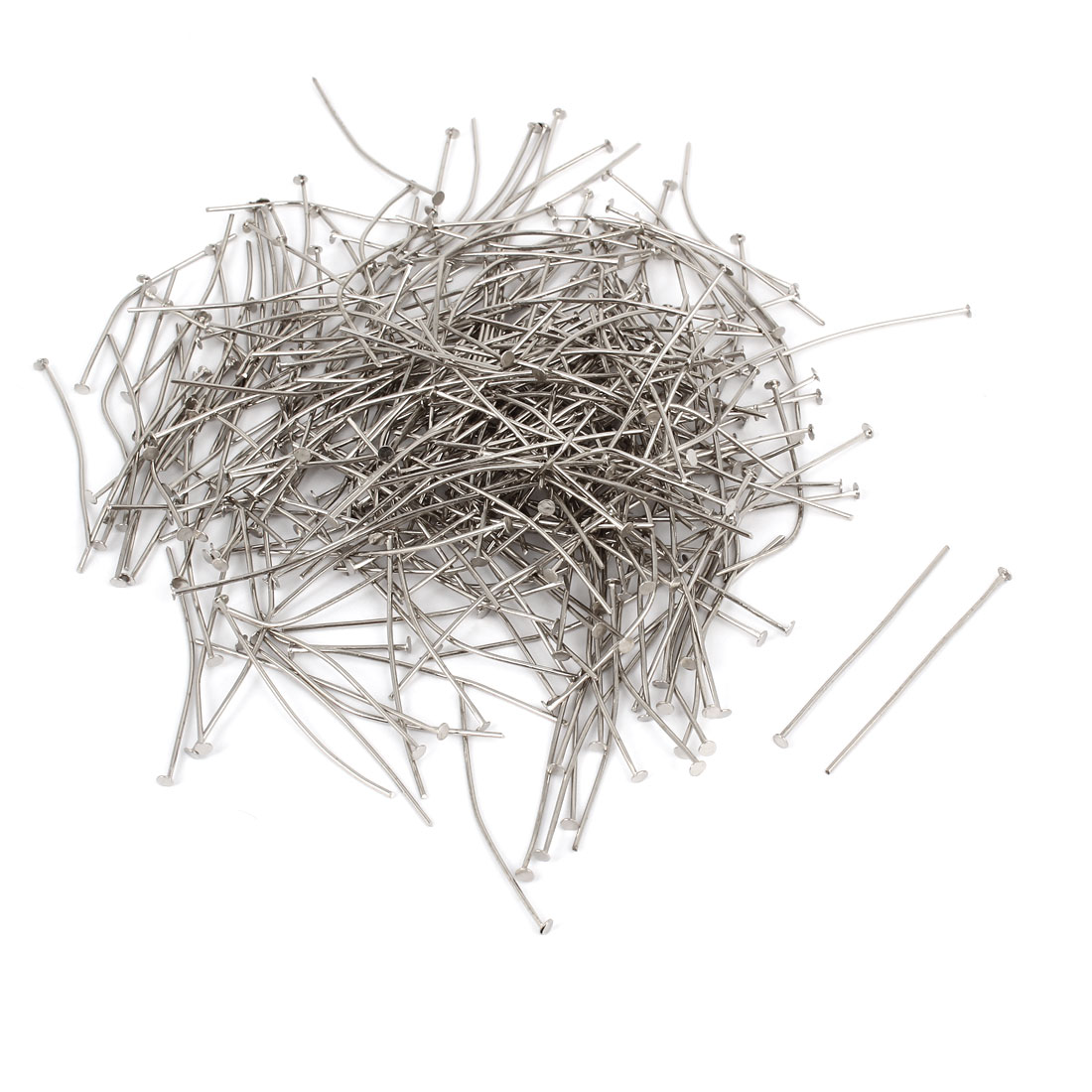 460 Pcs 40mm Length Flat Top Head Pins Headpins Wire Beading Tool