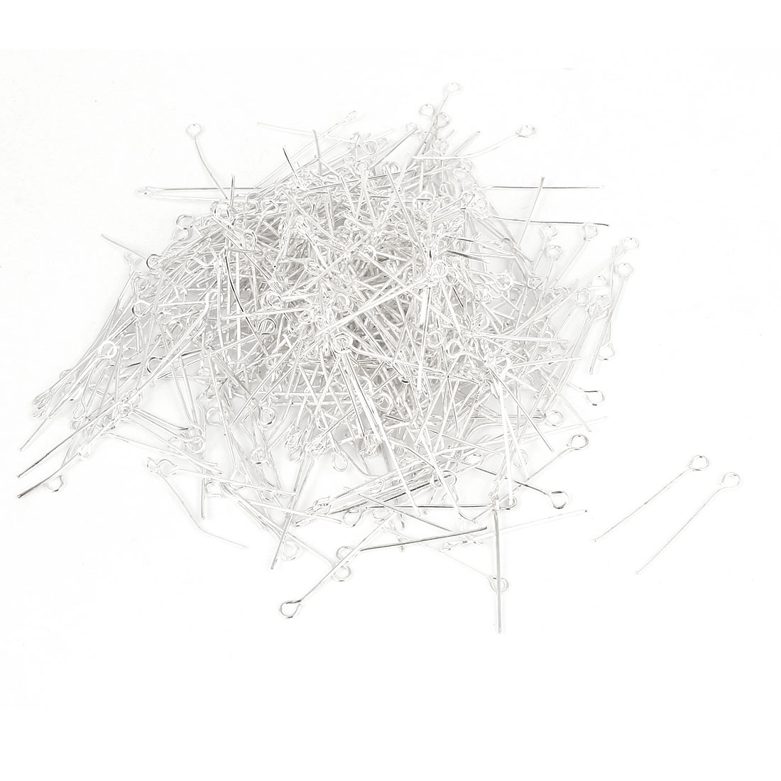 660 Pcs 26mm Silver Tone Metal Eye Pins Eyepins Jewelry Craft Findings