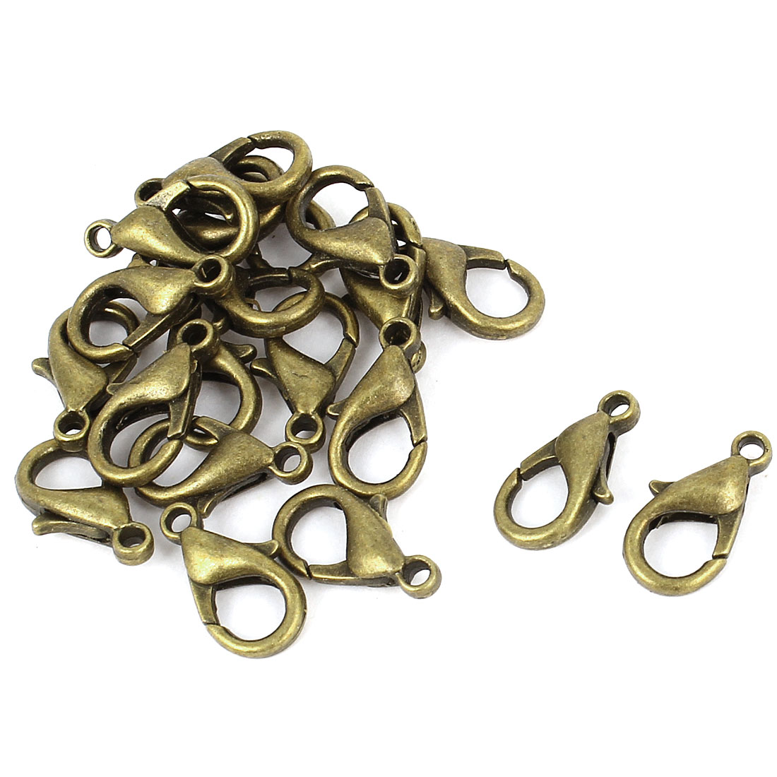 20 Pcs Bronze Tone Lobster Claw Clasps Jewelry Findings 14x7mm