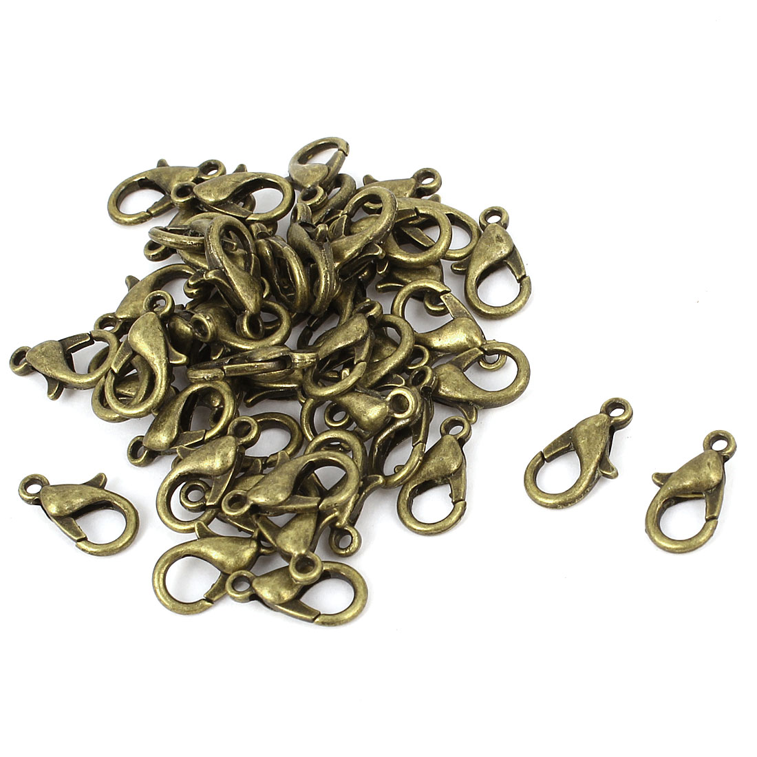 50 Pcs 12x6mm Bronze Tone Lobster Trigger Claw Clasps Jewelry Connector Kits