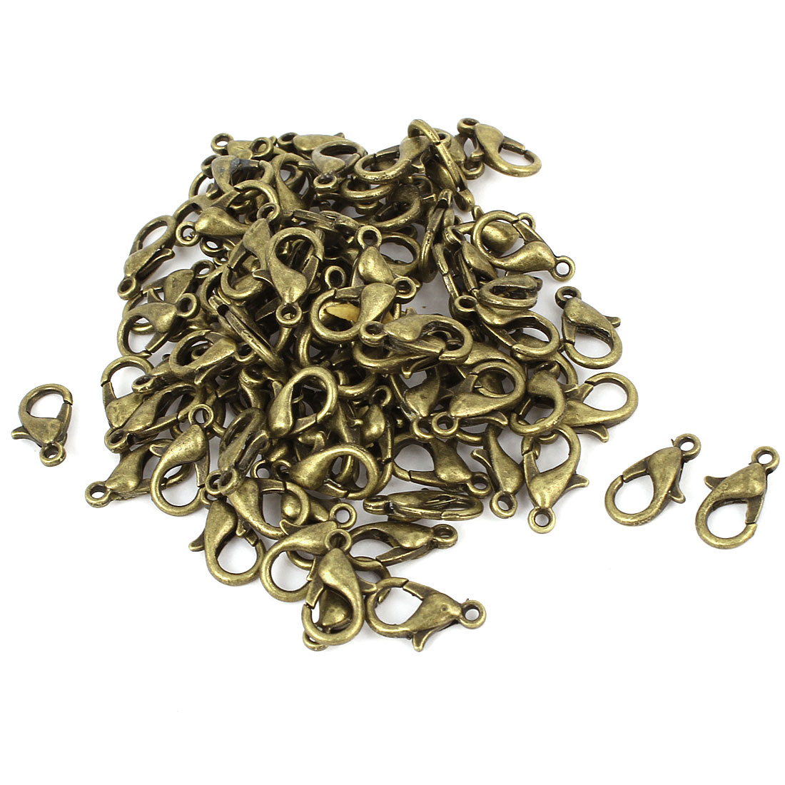 Bracelet Chain Connectors Bronze Tone Lobster Claw Clasps 12 x 6mm 100 Pcs