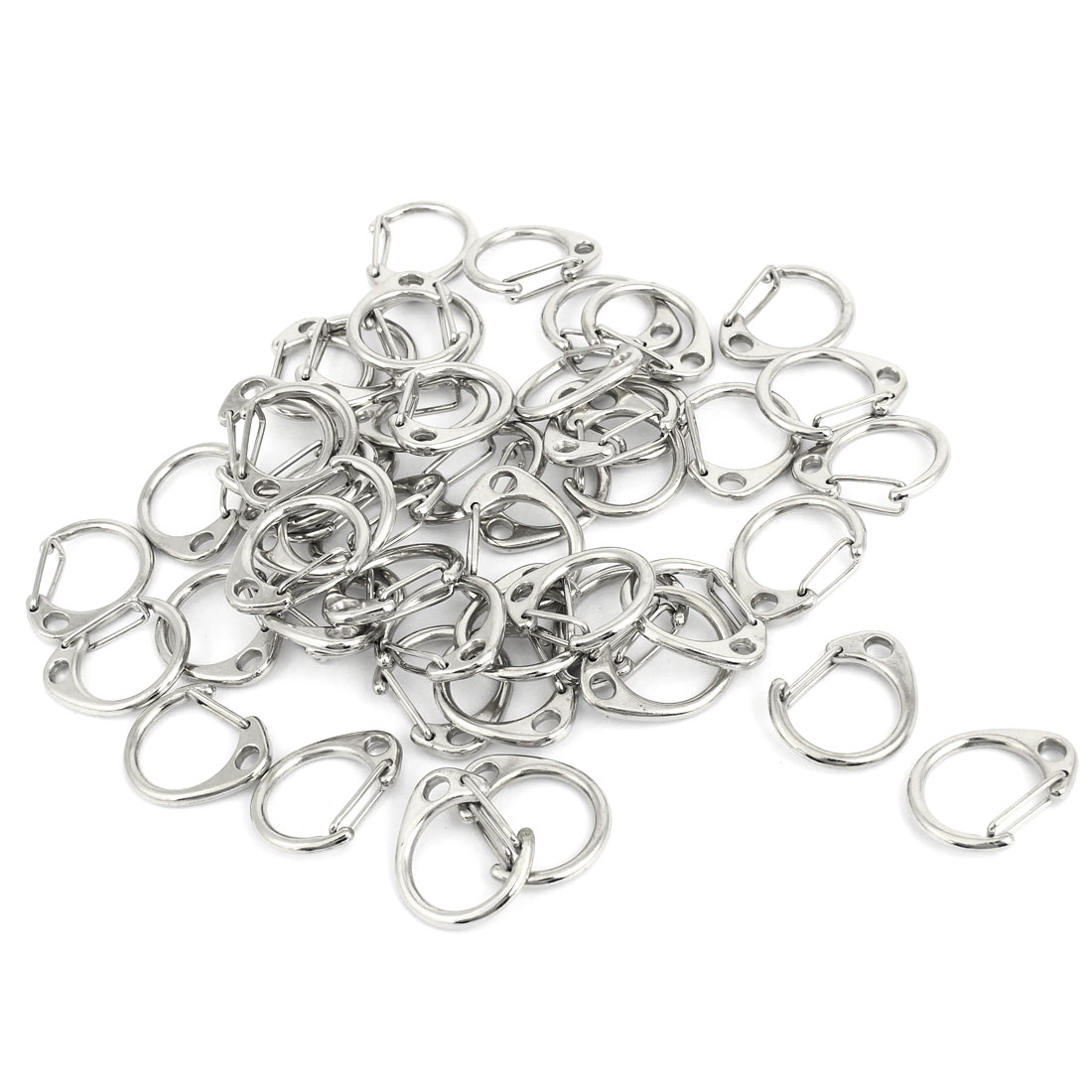 Keyring Handbags Pendant 27x23mm D Shaped Lobster Clasps Buckles 50 Pcs