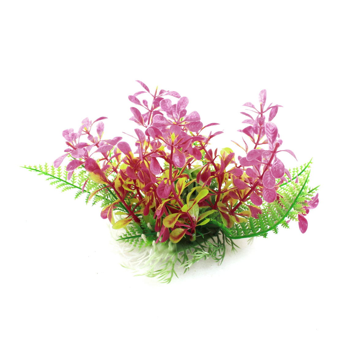 Fish Tank Aquarium Decoration Green Pink Plastic Artificial Vivid Grass Plant