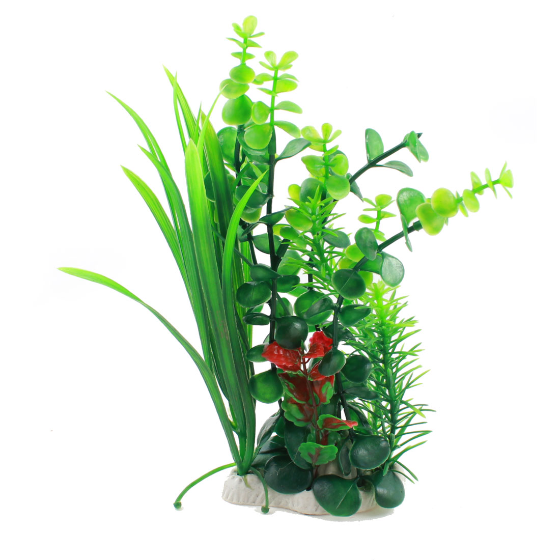 Fish Tank Green Plastic Artificial Water Grasses Ornament 23cm Height