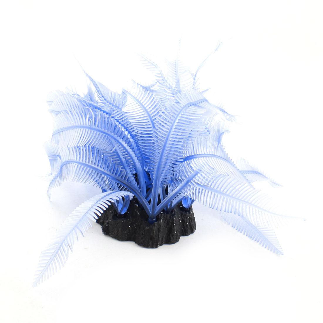 Blue Silicone Artificial Underwater Coral Plant Decor 13cm High for Fish Tank