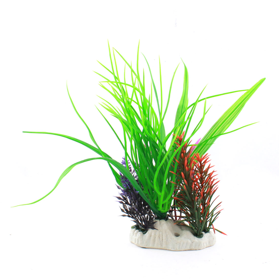 Fish Tank Multicolor Plastic Water Grasses Plants Decoration 23cm Height