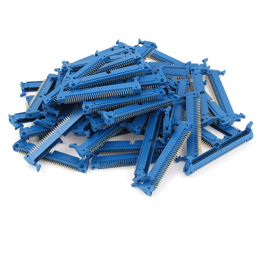 60PCS Blue 64 Pin Straight Latched Box Ejector Header Connector PCB
