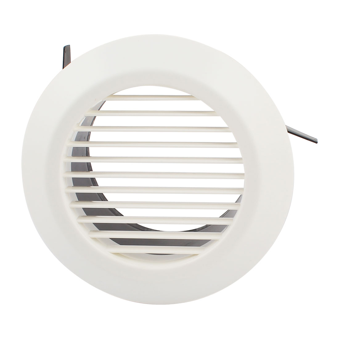 Black White 125mm OD Straight Round Air Grilles Diffusers for Bathroom