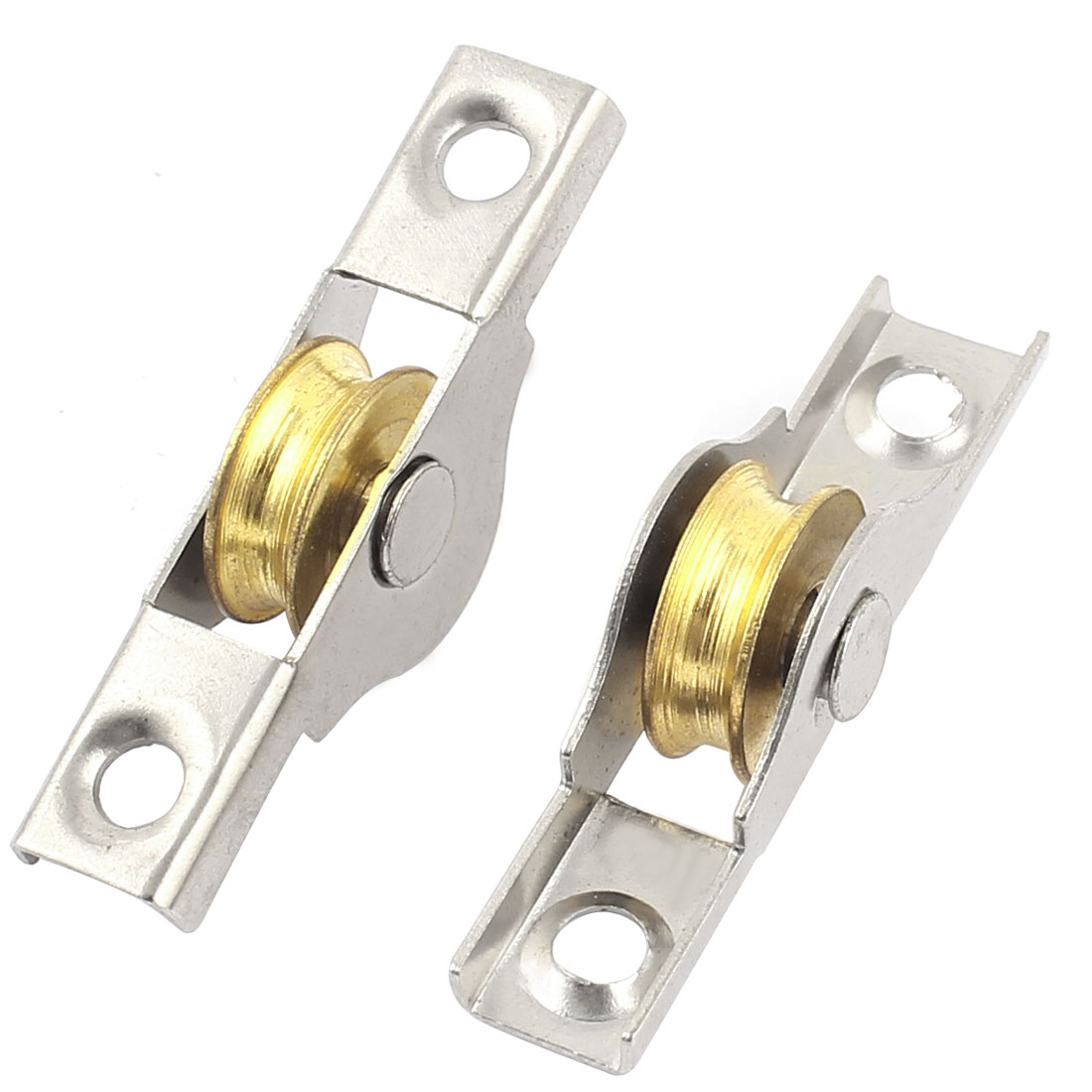 15mm x 6mm Sliding Door Single Rollers Window Sash Pulley Wheel 2 Pcs