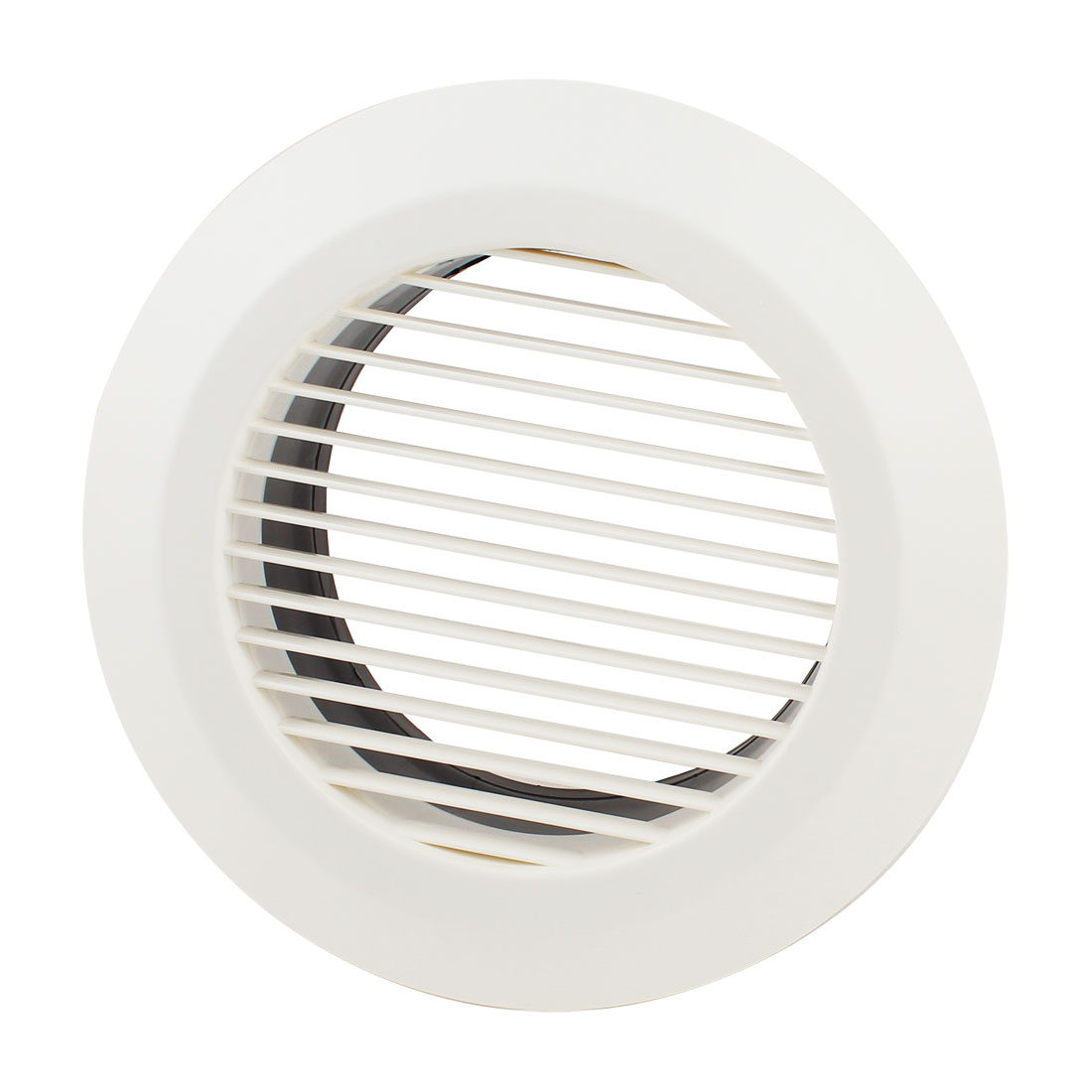 Black White 150mm OD Straight Round Air Grilles Diffusers for Kitchen