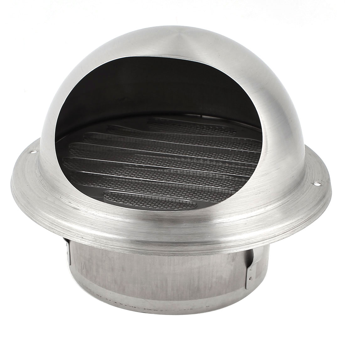 Silver Tone 100mm Outer Dia Stainless Steel Air Grilles Vent Valve