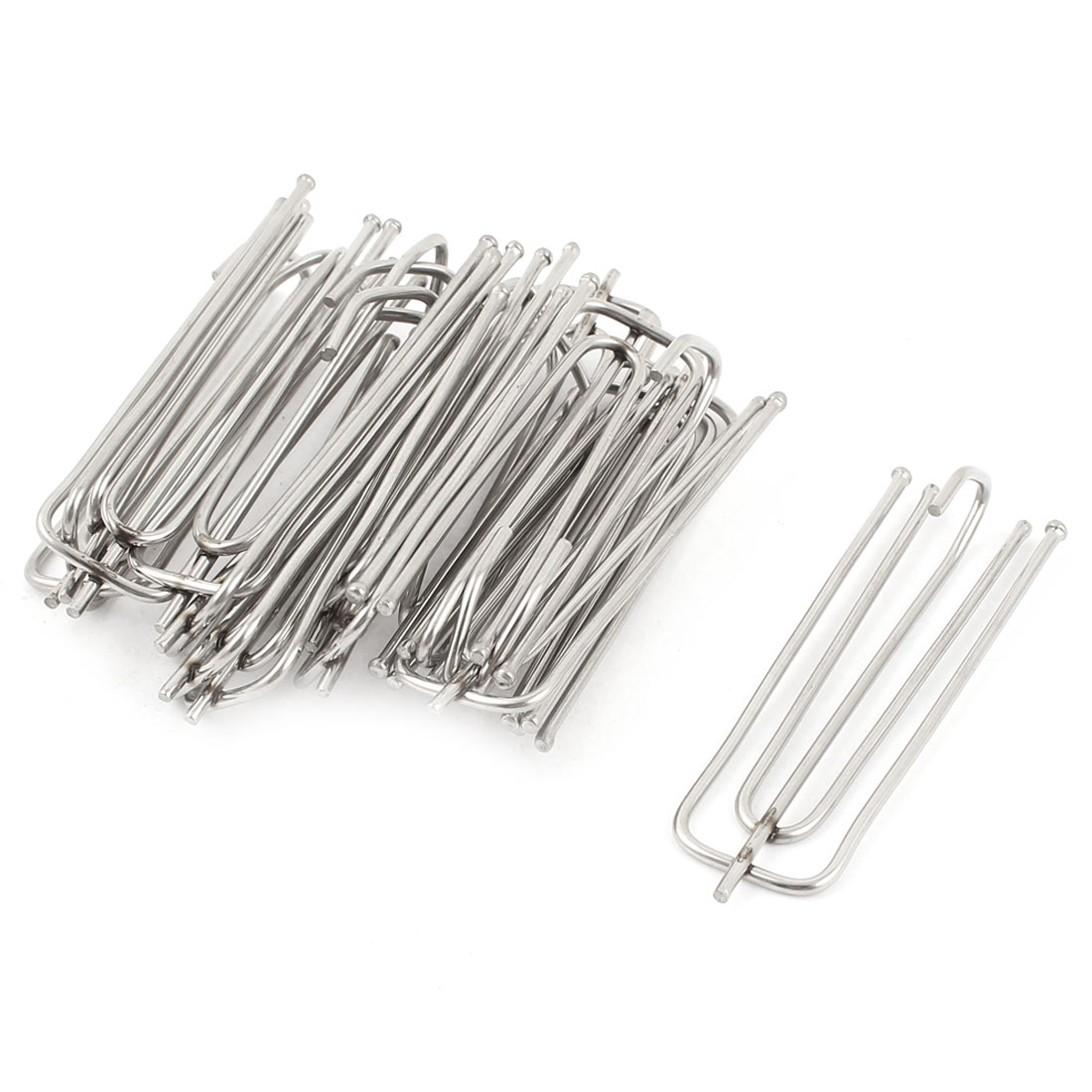 15 Pcs 7cm Length Stainless Steel Curtain Pleat Prong Forks Hooks