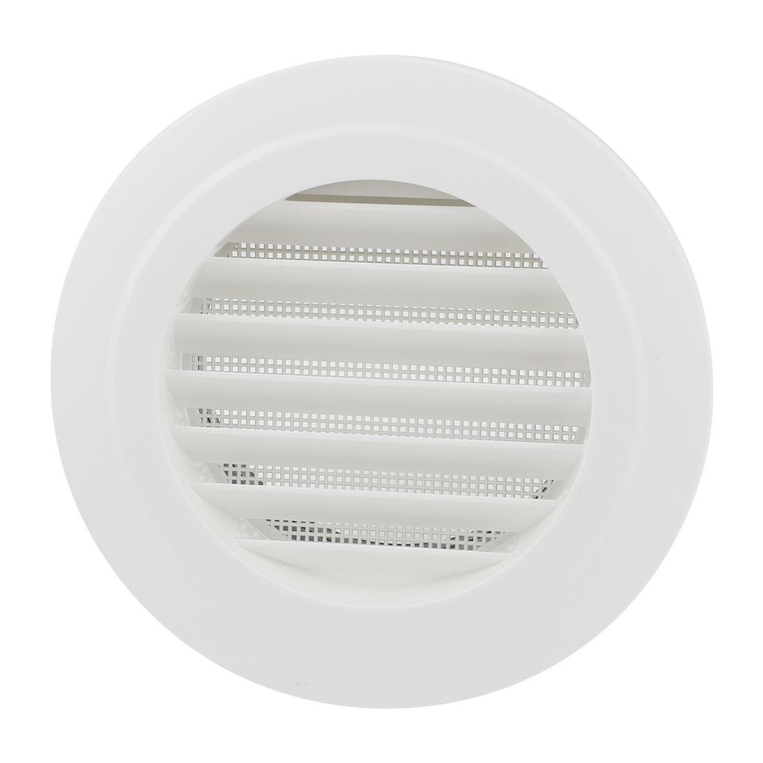 Black White Plastic 150mm Outer Dia Oblique Air Grilles Vent Valve