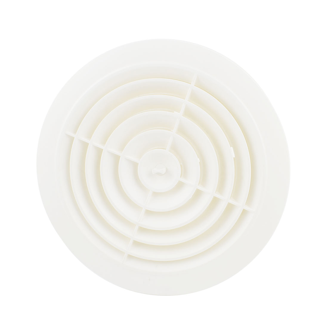White Rotary 200mm Outer Dia Air Grilles Vent Valve for Bathroom