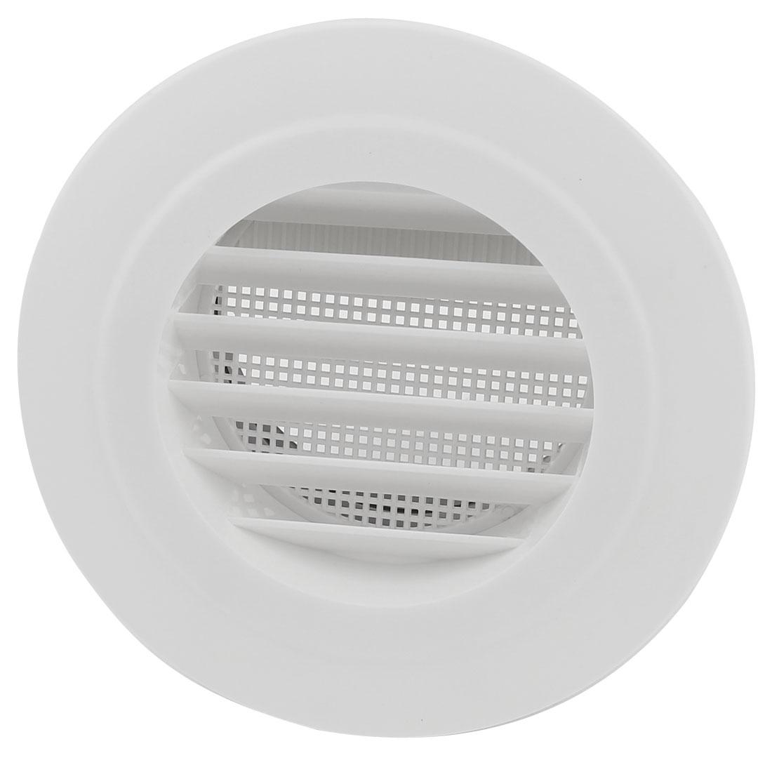 Black White Plastic 100mm Outer Dia Oblique Style Air Grilles Vent Valve