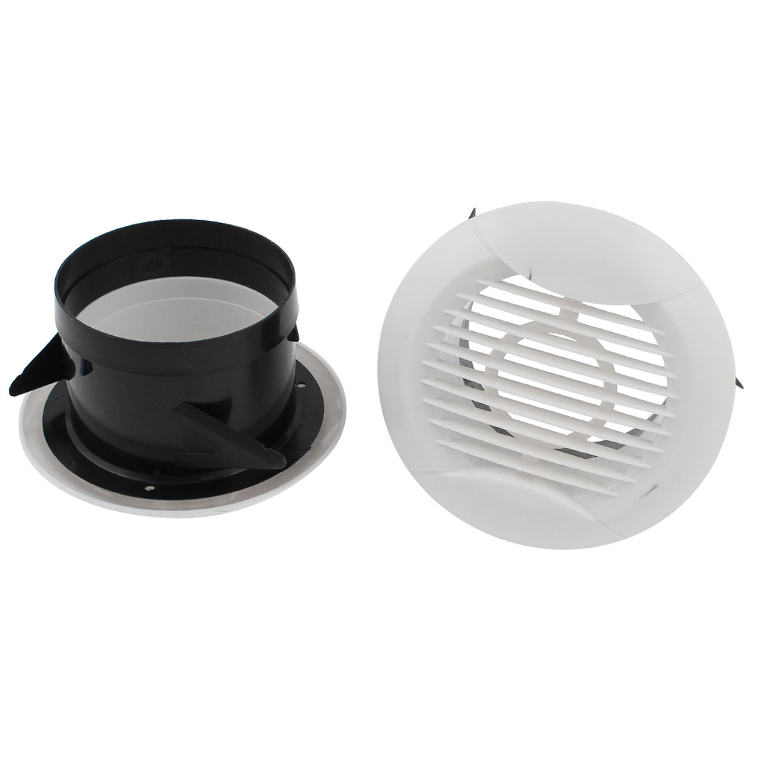 2 Pcs 75mm OD Plastic Straight Air Grilles Diffusers Vent Valve for Kitchen