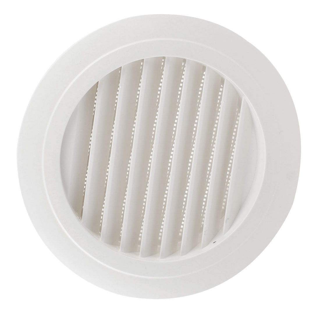 Black White Plastic 200mm Outer Dia Oblique Air Grilles Vent Valve