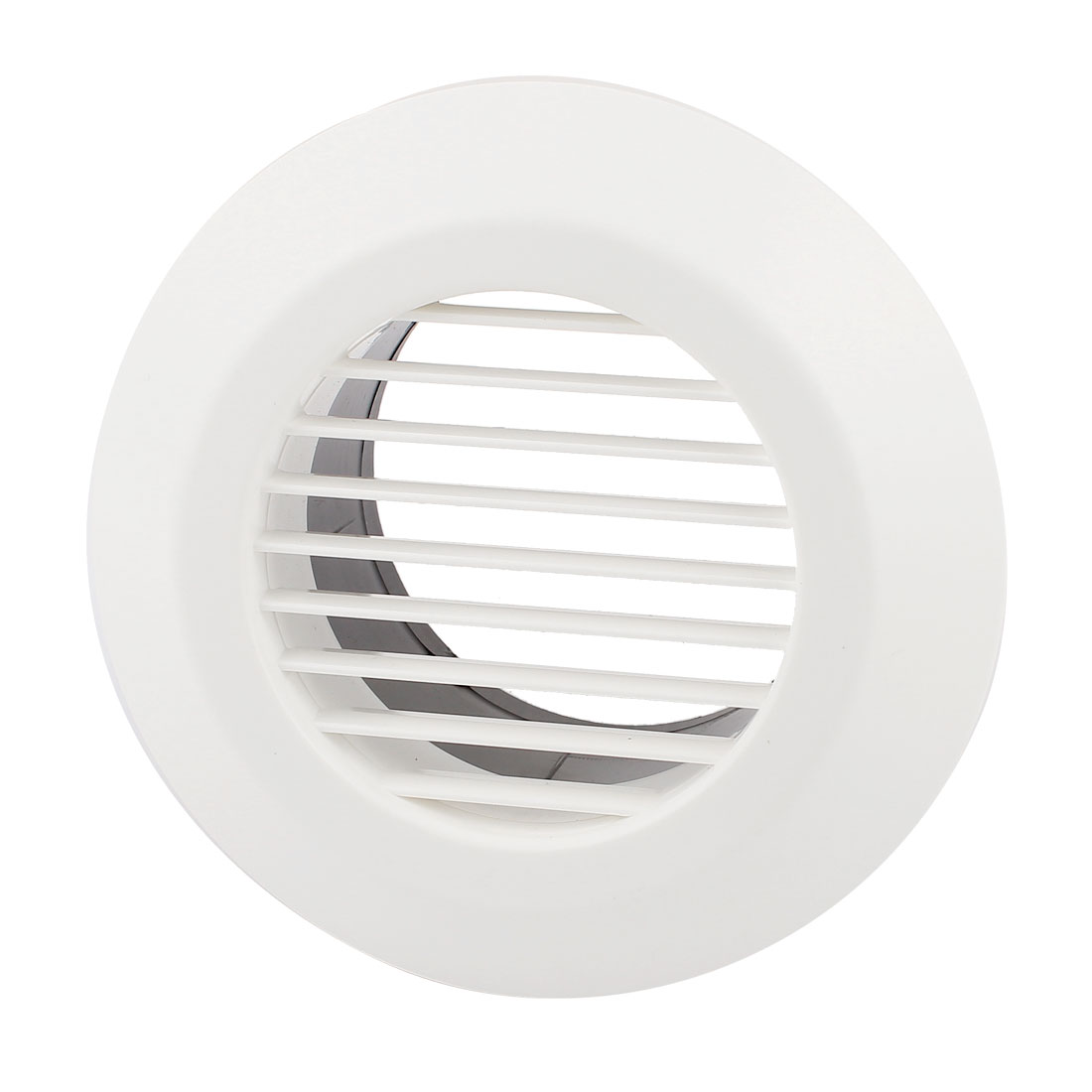 Black White 100mm OD Straight Round Air Grilles Diffusers for Kitchen