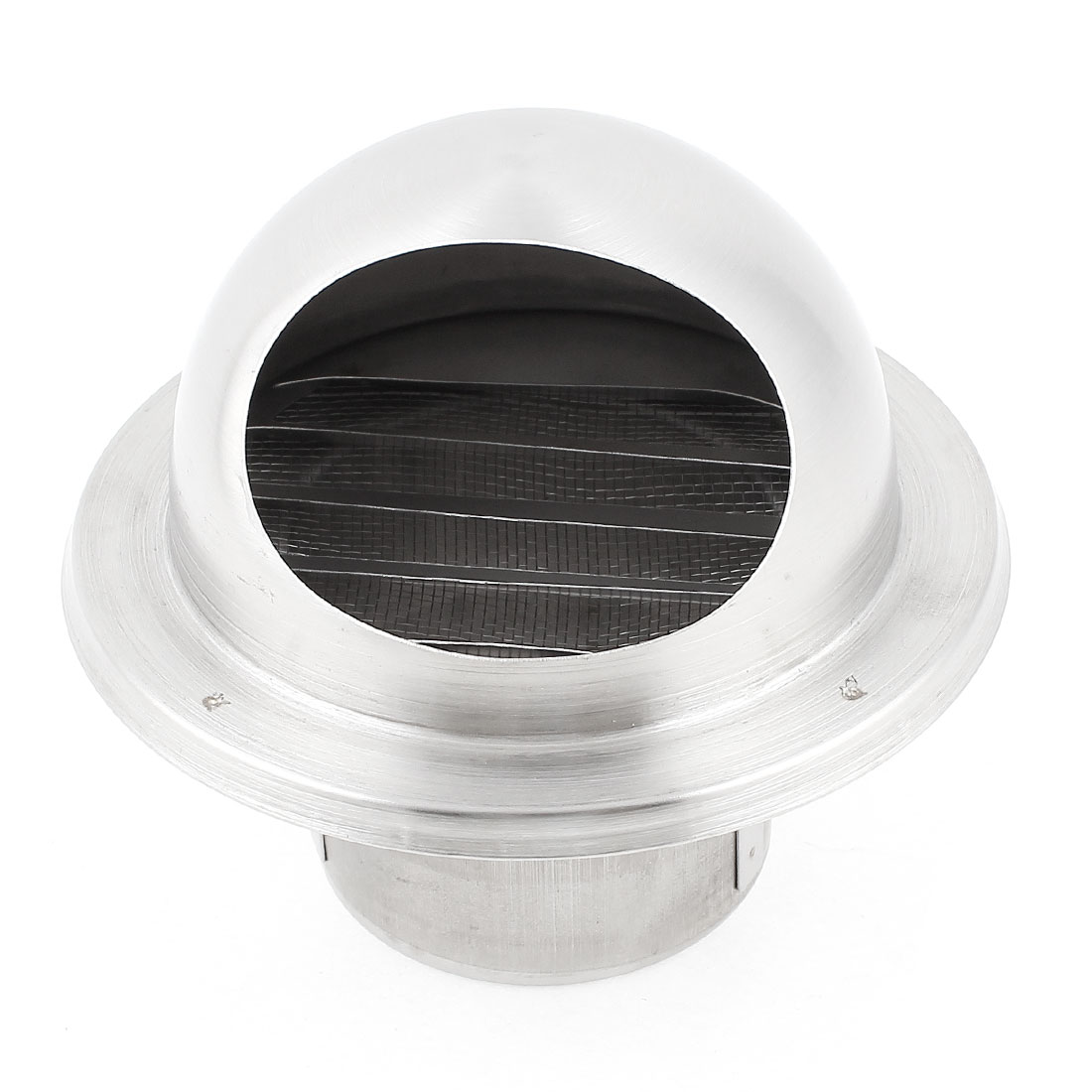 Silver Tone 60mm Outer Dia Stainless Steel Air Grilles Vent Valve