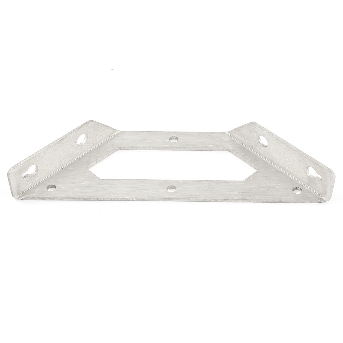 "5.7"" Long Silver Tone Stainless Steel Solid Support Shelf Bracket"