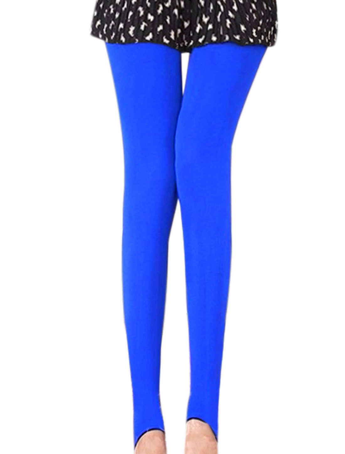 Lady Stirrup Stretchy Stylish Royal Blue Reversible Pantyhose XS