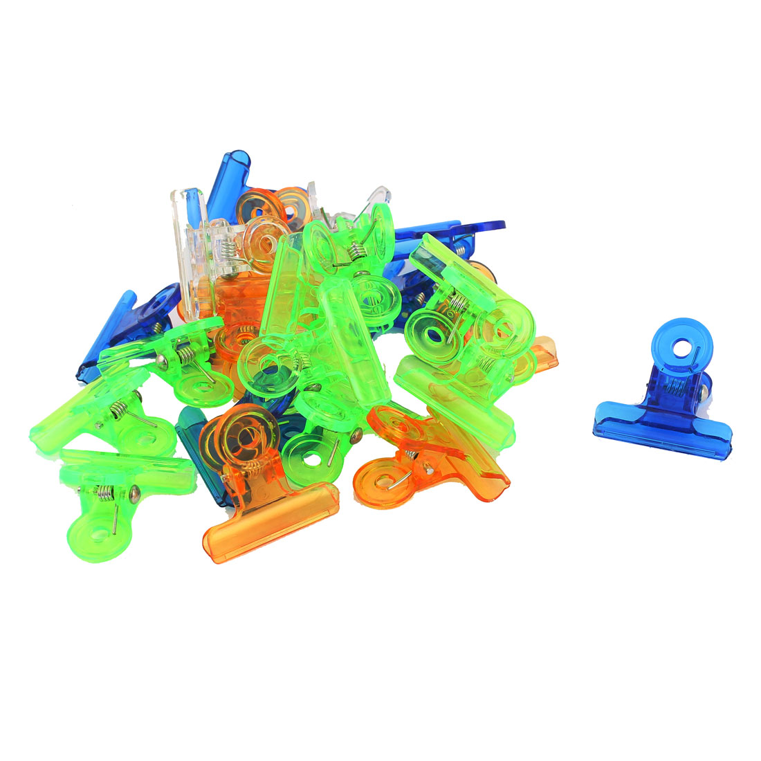 24pcs Colorful Mini Plastic Binder Clips 31mm for Paper Sheets