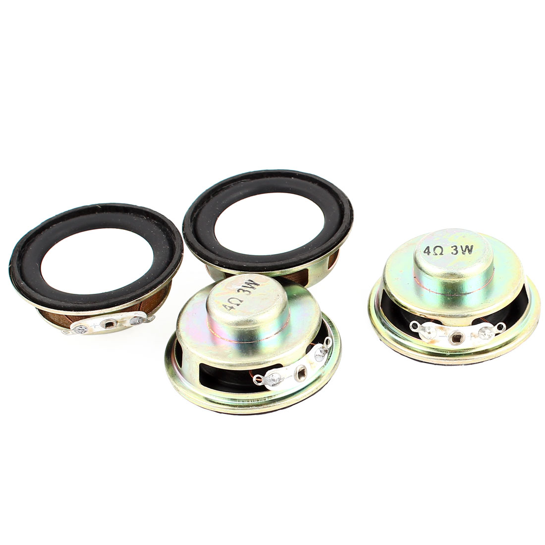 4pcs 4Ohm 3W 40mm Dia Computer Audio Woofer Speaker Horn