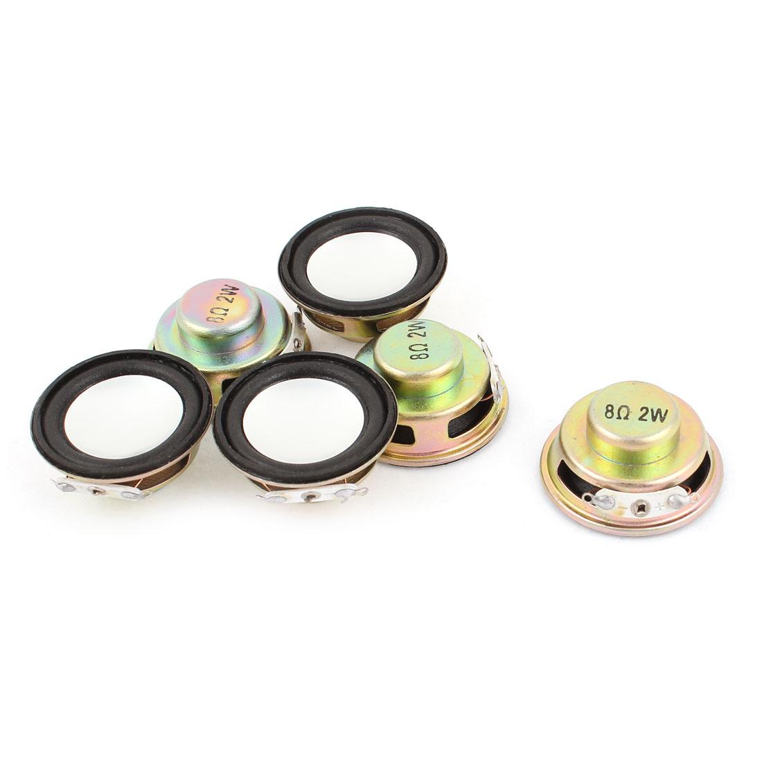 6pcs 8Ohm 2W 36mm Diameter Round Metal Shell Audio Speaker Horn