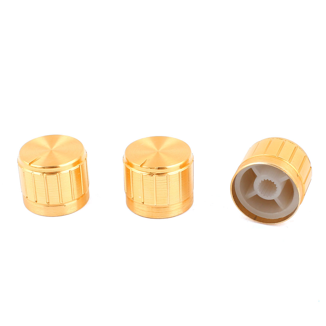 3pcs Rotary Buttons 6mm Dia Knurled Shaft Potentiometer Control Knobs 21mmx17mm
