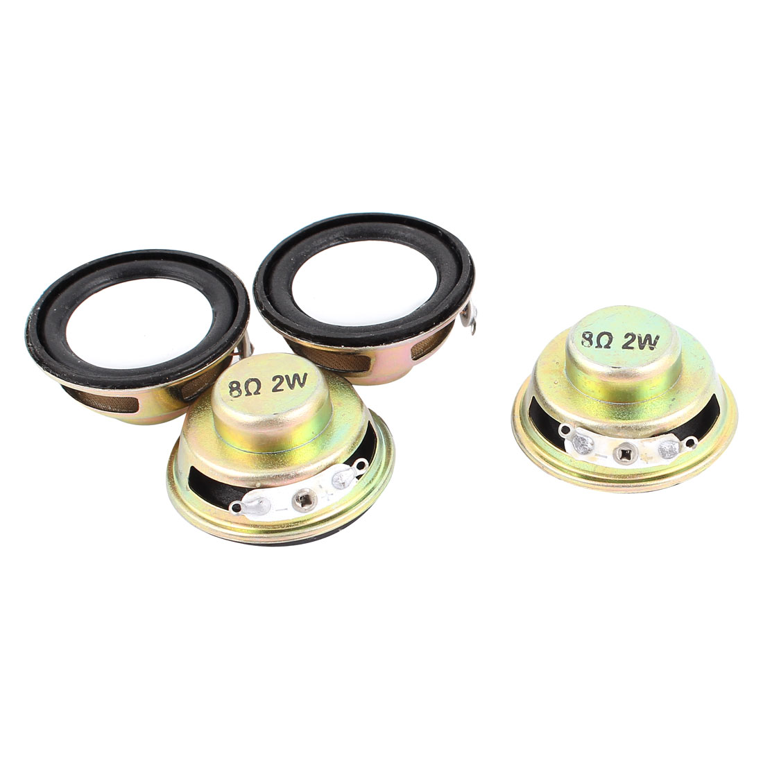4pcs 8Ohm 2W 36mm Dia Computer Audio Woofer Speaker Horn