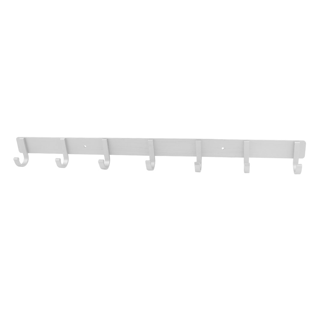 Silver Tone Aluminum Fixed 7-hook Wall Hanger Towel Clothes Hanging Rack 21""