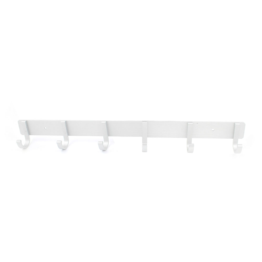 Aluminium 6 Fixed Hanger Towel Hat Coat Clothes Wall Mount Hook Rack Rail