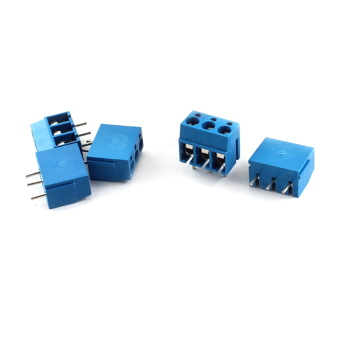 5Pcs 5.08mm 3 Way PCB Screw Terminal Block 300V 16A for 14-22AWG Wire