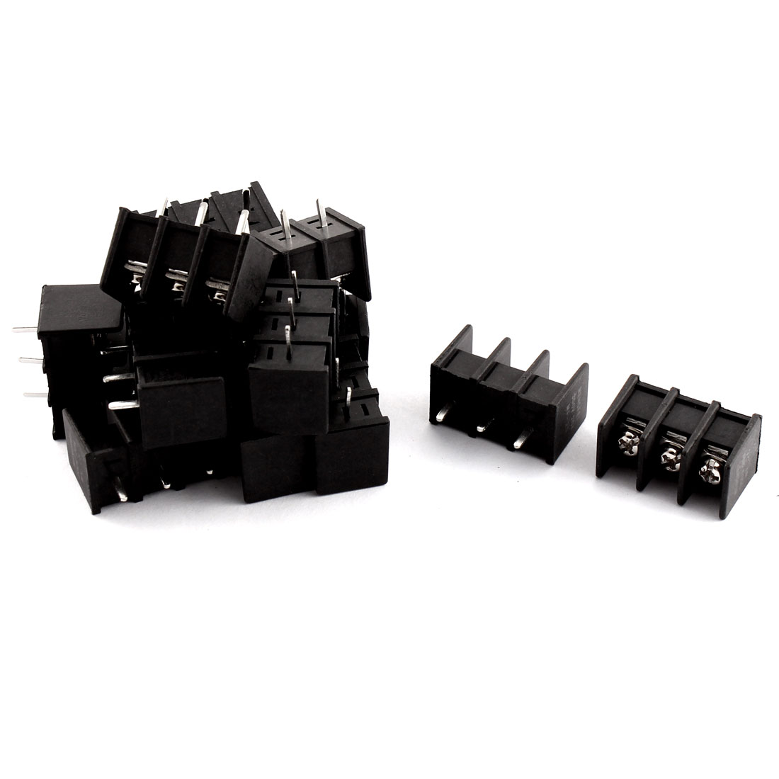 14Pcs 3 Position PCB Mounting Screw Terminal Block Connector 300V 20A
