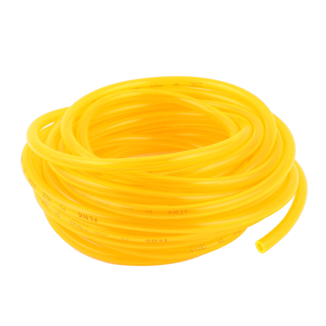 10m 33ft 8mmx5mm Pneumatic Polyurethane PU Hose Tube Pipe Clear Yellow