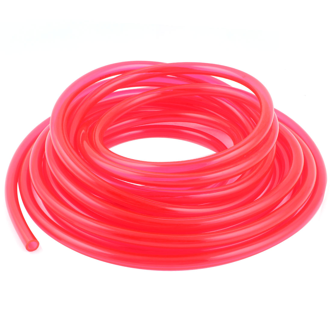 10m 33ft 10mmx6.5mm Pneumatic Polyurethane PU Hose Tube Pipe Clear Red