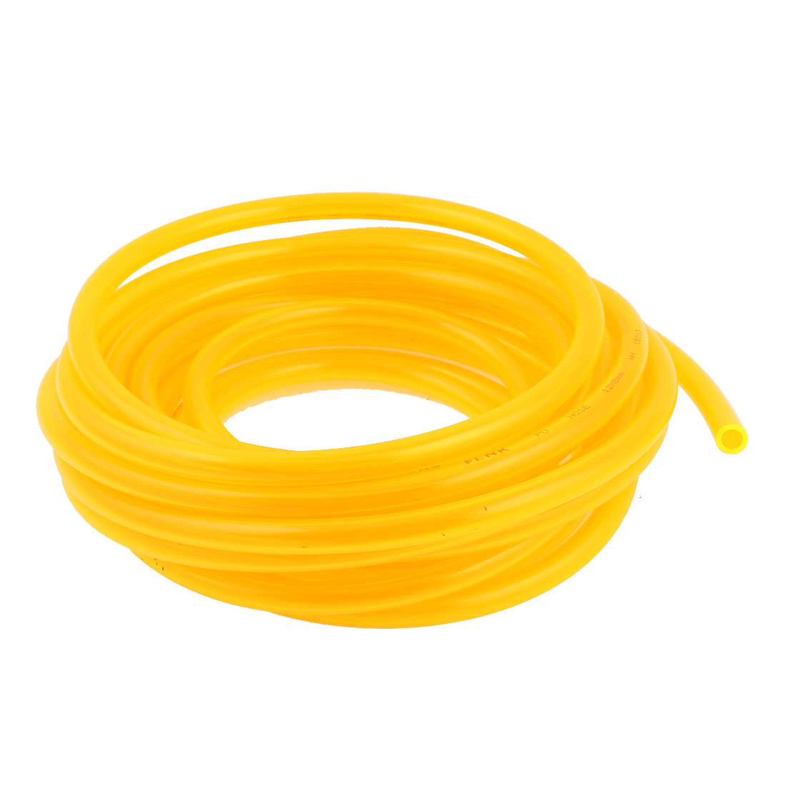 5m 16.4ft 12mmx8mm Pneumatic Polyurethane PU Hose Tube Pipe Clear Yellow
