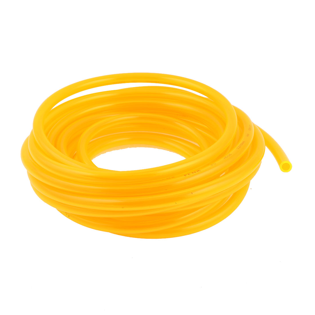 10m 33ft 12mmx8mm Pneumatic Polyurethane PU Hose Tube Pipe Clear Yellow