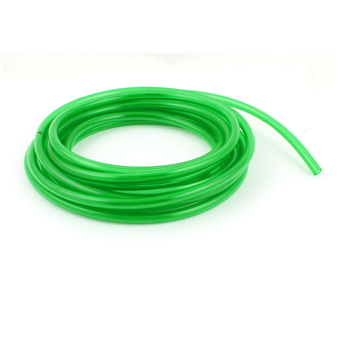 5m 16.4ft 8mmx5mm Pneumatic Polyurethane PU Hose Tube Pipe Clear Green
