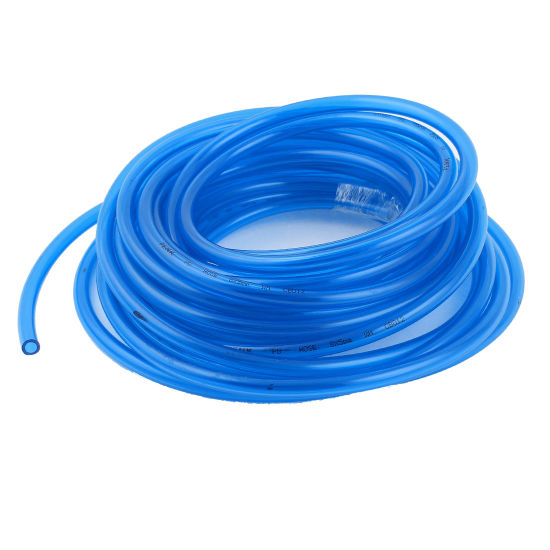 10m 33ft 8mmx5mm Pneumatic Polyurethane PU Hose Tube Pipe Clear Blue