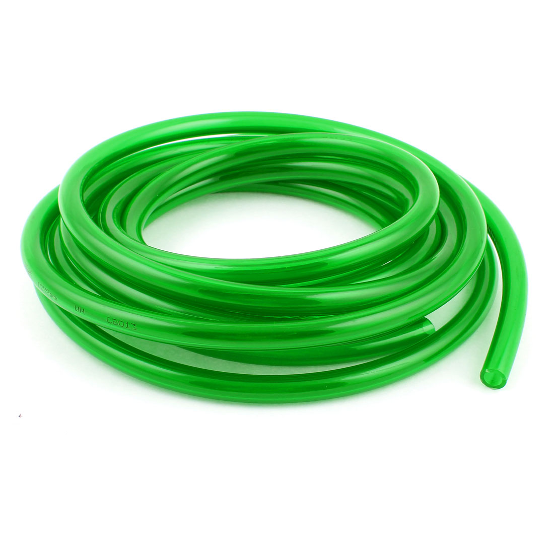5m 16.4ft 12mmx8mm Pneumatic Polyurethane PU Hose Tube Pipe Clear Green