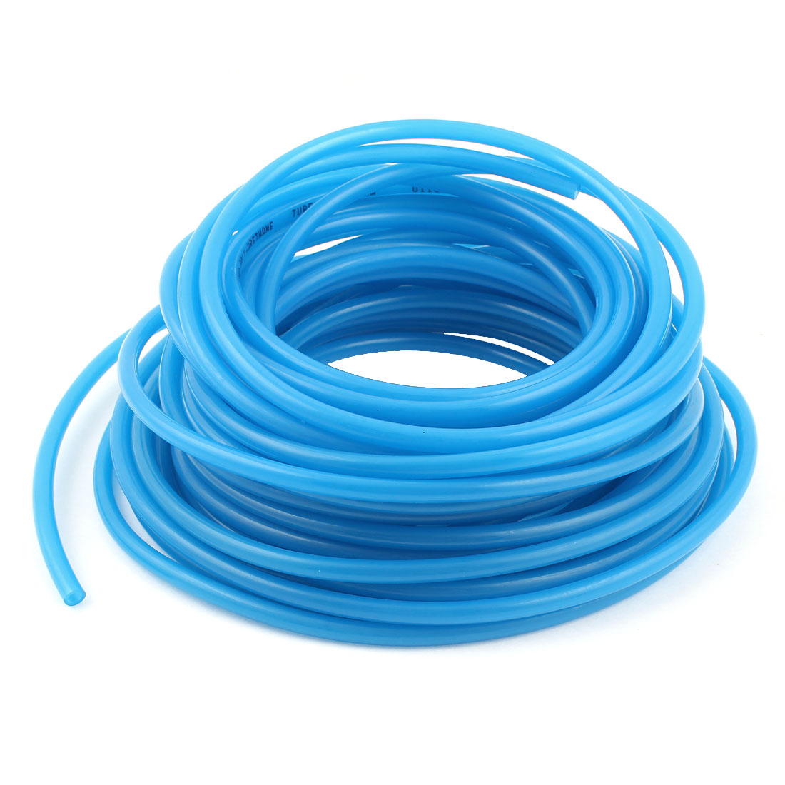 10m 33ft 6mmx4mm Pneumatic Polyurethane PU Hose Tube Pipe Clear Blue