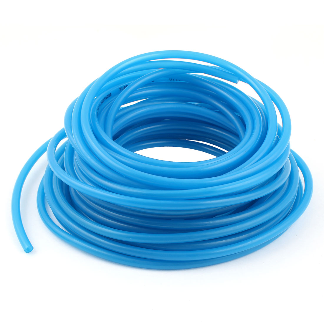 15m 50ft 6mmx4mm Pneumatic Polyurethane PU Hose Tube Pipe Clear Blue