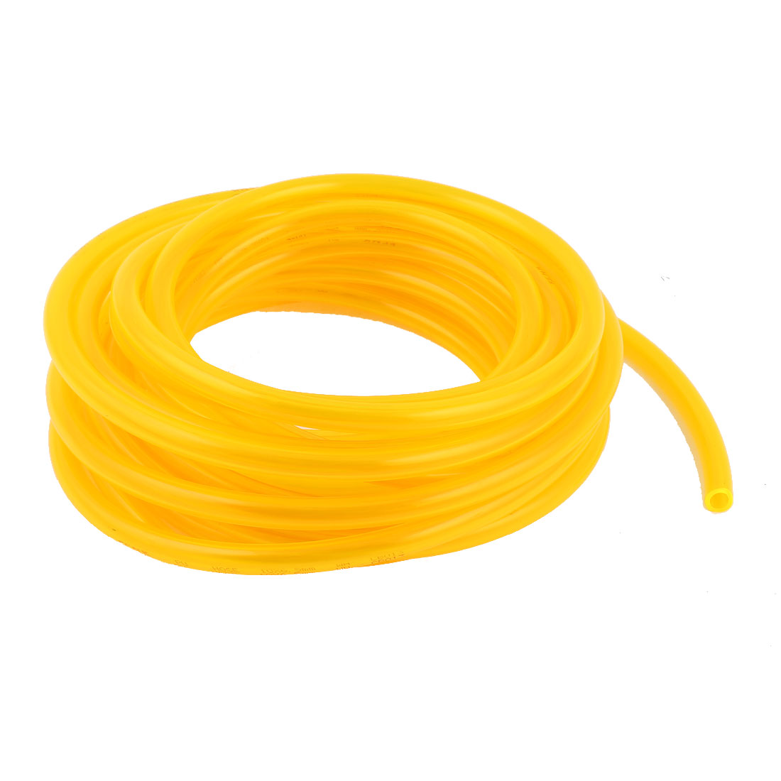 25m 82ft 10mmx6.5mm Pneumatic Polyurethane PU Hose Tube Pipe Clear Yellow