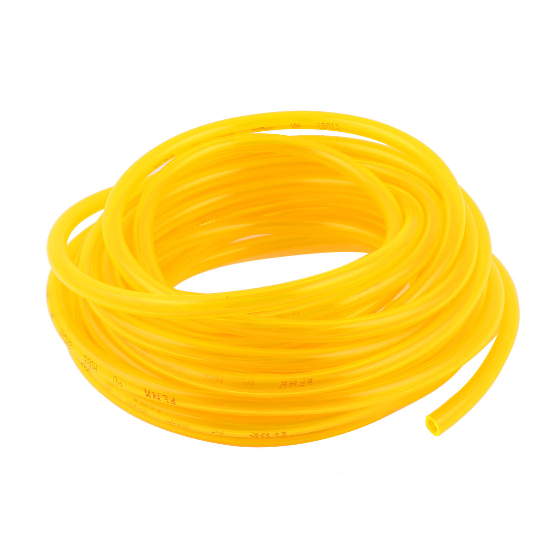 5m 16.4ft 10mmx6.5mm Pneumatic Polyurethane PU Hose Tube Pipe Clear Yellow