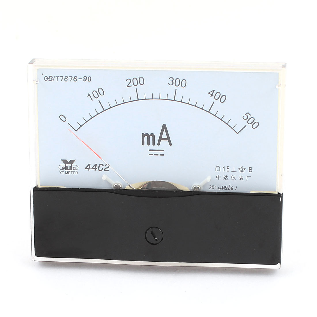 44C2 DC 0-500mA Dial Analog Panel Current Ammeter Ampere Meter