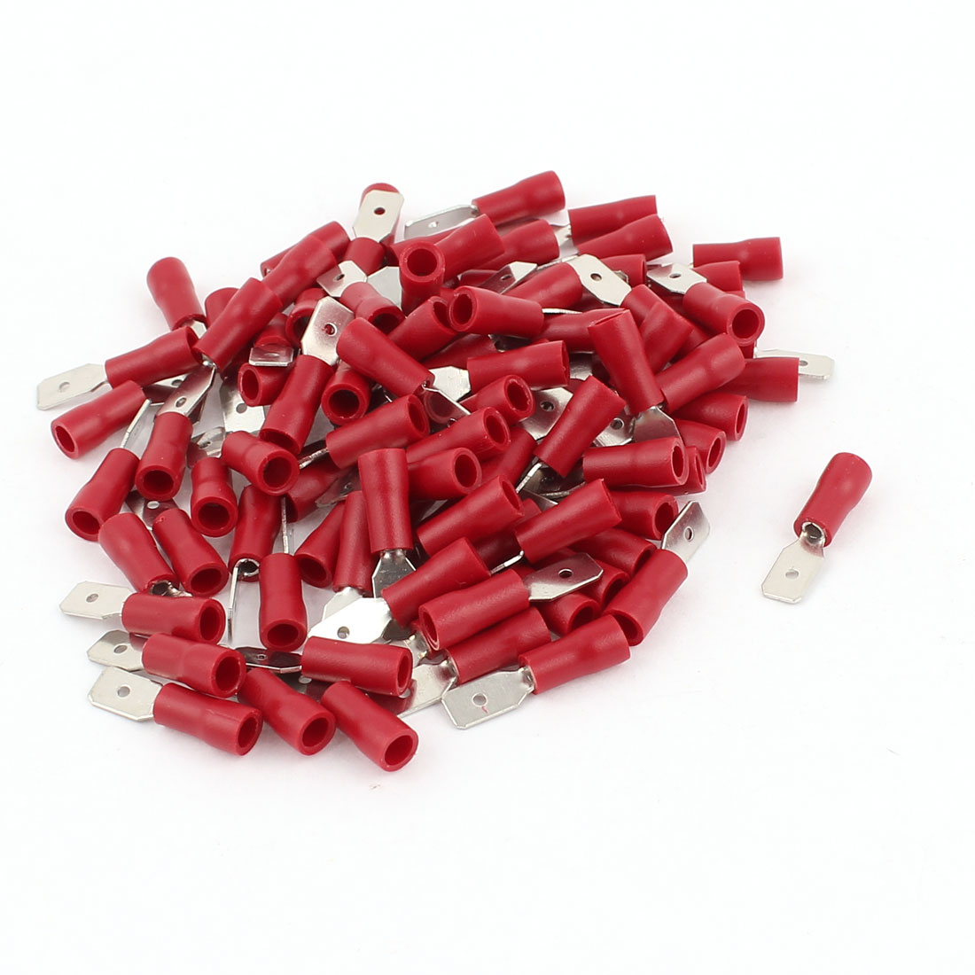 100 Pcs MDD1-187 22-16AWG Wire Connector Insulated Male Crimp Terminals