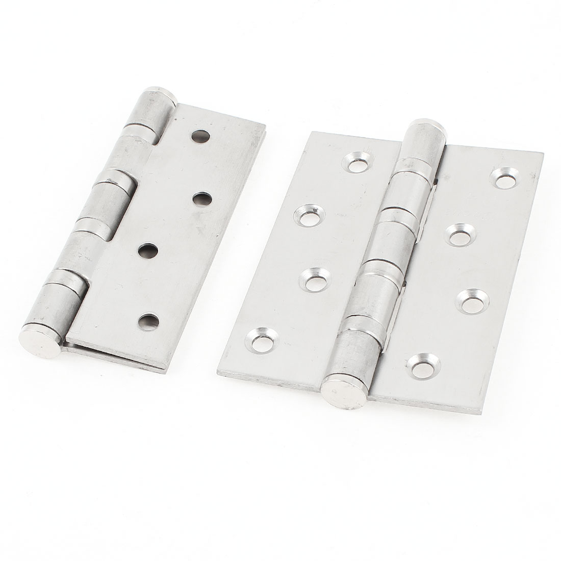 "2 Pcs 4"" Long Stainless Steel Door Hinges Silver Tone"