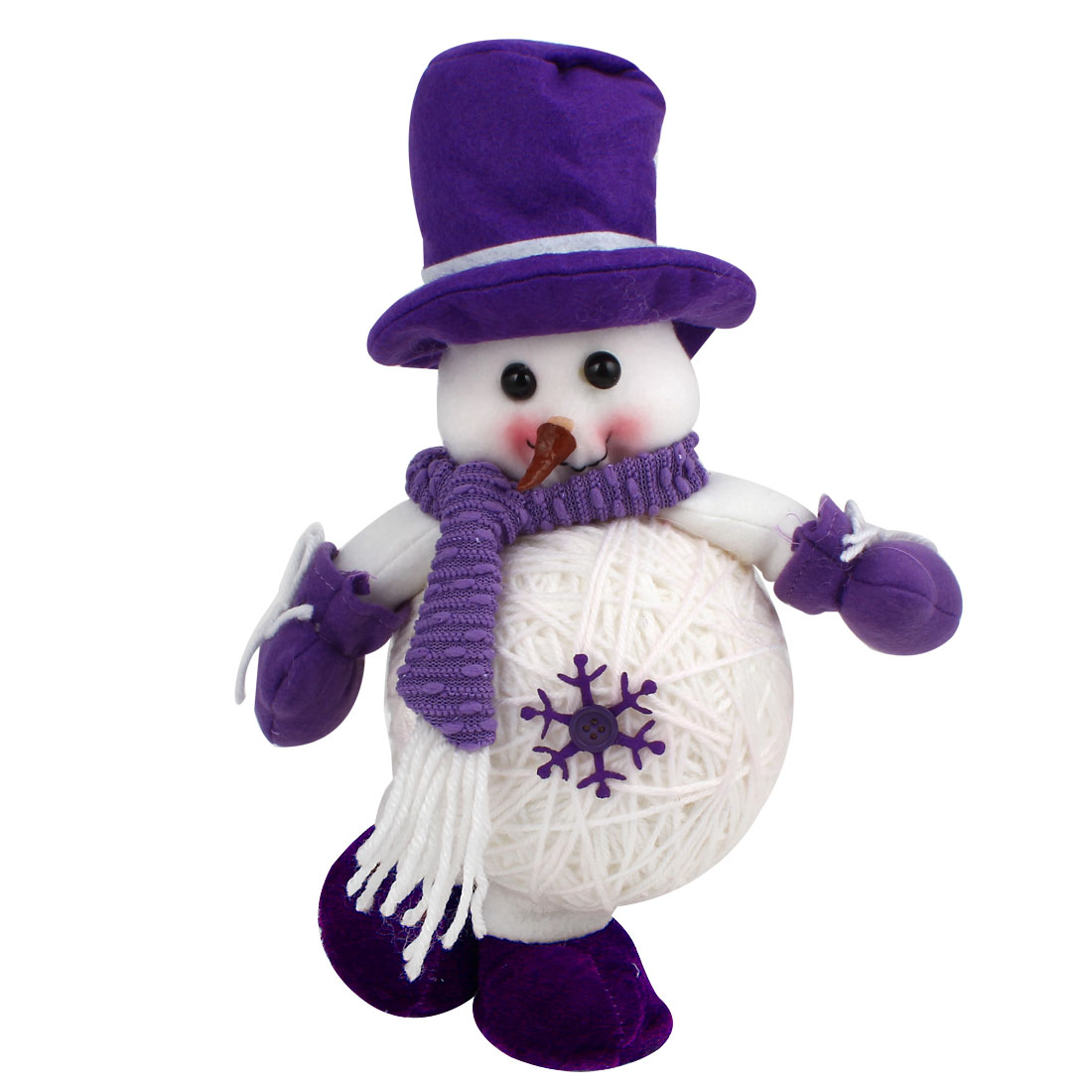 Snowman Shape Christmas Toy Doll Gift Purple White for Xmas Trees Ornament